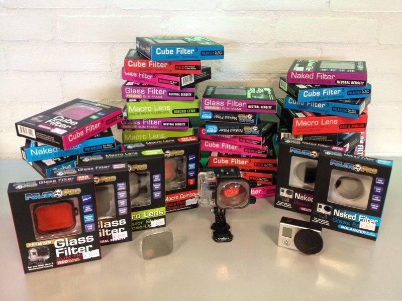 Cubefilters binnen Nieuw POLAR PRO GLASS & MACRO filters